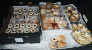 Some of the tasty treats that Leonard Devine has been baking for frontline staff.