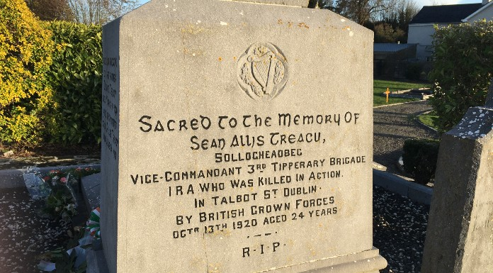 Grave of Irish patriot Seán Treacy in Kilfeacle | Photo (c) Tipp FM/MaryAnn Vaughan